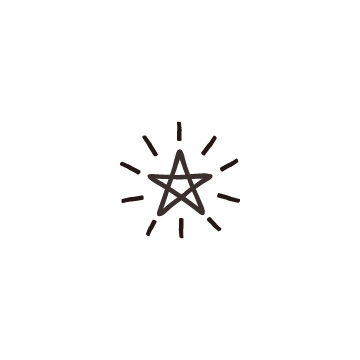 光っている星1