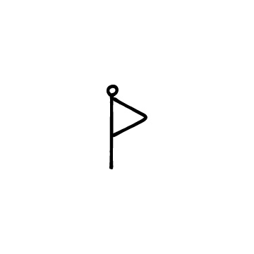 三角のフラッグ