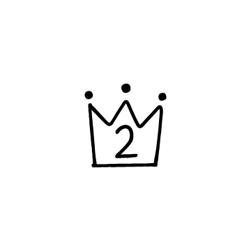 王冠の形のランキング、ランク表示用アイコン2