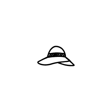 女性の夏の帽子のアイキャッチ用画像