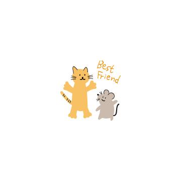猫とネズミのアイキャッチ用画像