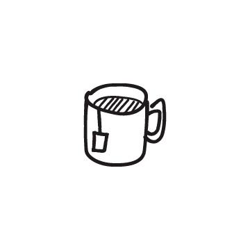 ティーバッグの入ったマグカップのアイキャッチ用画像