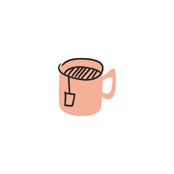 ティーバッグの入ったマグカップ(カラー)のアイキャッチ用画像