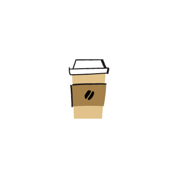 茶色いテイクアウト用のコーヒーカップのアイキャッチ用画像