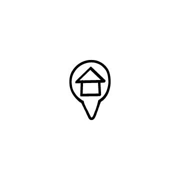 ロケーションのアイコン(家・線)のアイキャッチ用画像