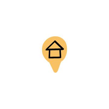 ロケーションのアイコン(家・カラー)のアイキャッチ用画像