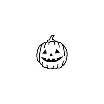 ハロウィンのかぼちゃの手書き風アイコンのアイキャッチ用画像