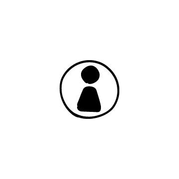 丸で囲んだ人のシルエットアイコンのアイキャッチ用画像