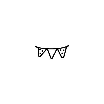 三角形のパーティーフラッグのアイキャッチ用画像