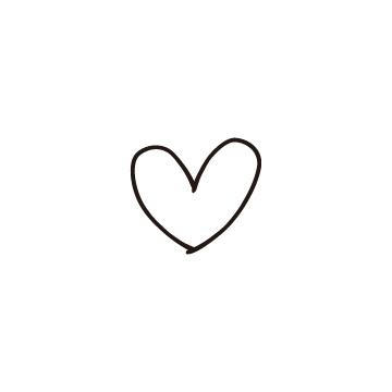 黒い線で書いた手書き風のハートの無料イラストのアイキャッチ用画像