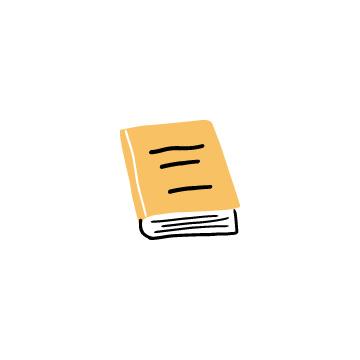 オレンジ色の閉じている本