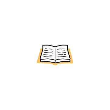 オレンジ色の開いている本2