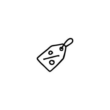 %と書いてある値札、タグのアイコンのアイキャッチ用画像