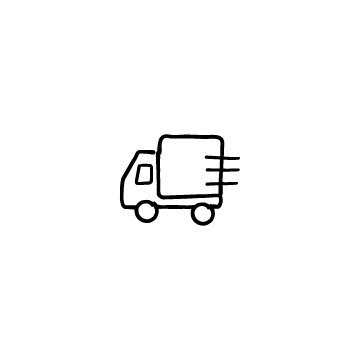 走っているトラックのイラストのアイキャッチ用画像
