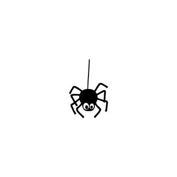 かわいい漫画風の蜘蛛のアイキャッチ用画像