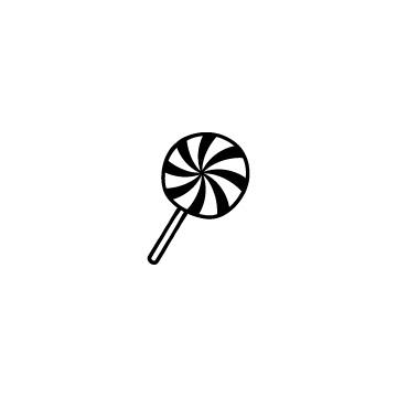 ペロペロキャンディーのフリーアイコンのアイキャッチ用画像