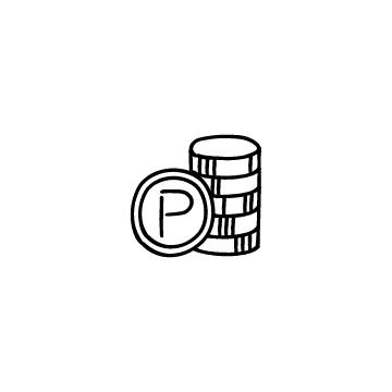 積み上げたポイント硬貨のアイキャッチ用画像