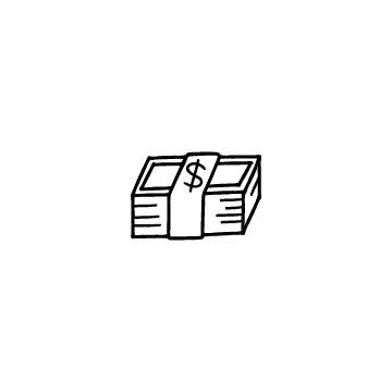 ドル紙幣の束のアイキャッチ用画像