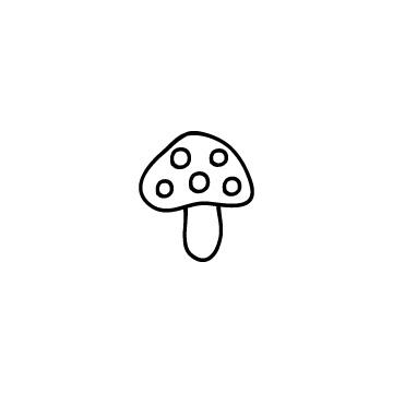 水玉のきのこのアイコンのアイキャッチ用画像