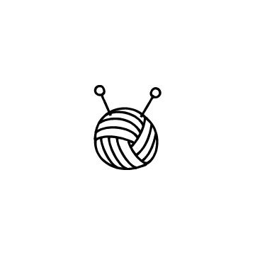 毛糸玉と編み針のアイコンのアイキャッチ用画像
