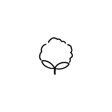 綿花、ワタ、コットンの花の落書き風アイコンのアイキャッチ用画像