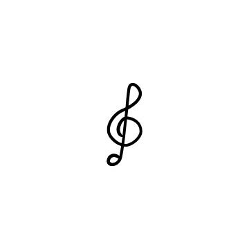 手書き風ト音記号のイラストのアイキャッチ用画像