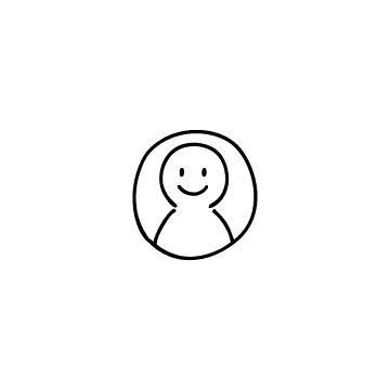 丸で囲んだ人、人物のアイコンのアイキャッチ用画像
