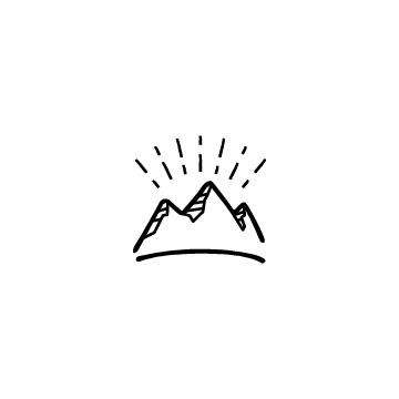 光っている山のアイコンのアイキャッチ用画像