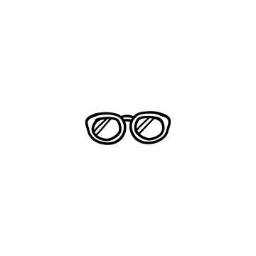 メガネの手書き風アイコンのアイキャッチ用画像