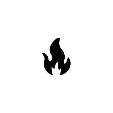黒く塗った火、炎のアイコンのアイキャッチ用画像