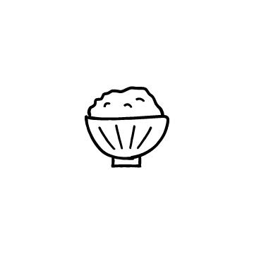 茶碗に入ったご飯のアイキャッチ用画像