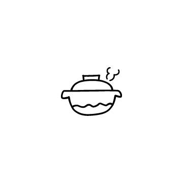 湯気の出ている土鍋のアイキャッチ用画像