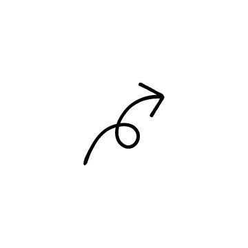くるっとした矢印(右)