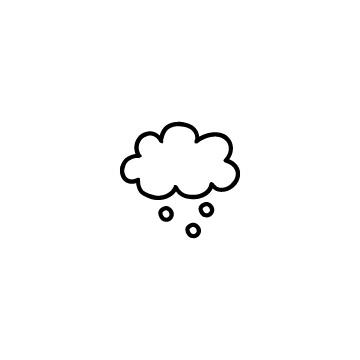 雲と雪のアイコンのアイキャッチ用画像