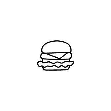 ハンバーガーのアイコンのアイキャッチ用画像