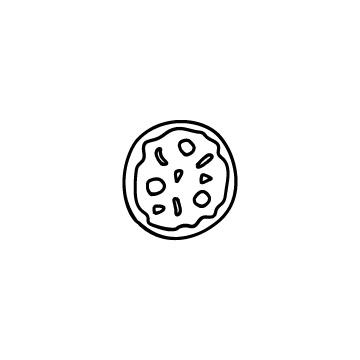 円形のピザのアイコンのアイキャッチ用画像
