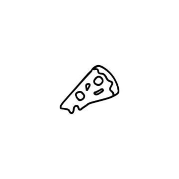 カットしたピザのアイコンのアイキャッチ用画像