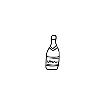 シャンパンボトルのアイコンのアイキャッチ用画像