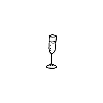 グラスに入っているシャンパン