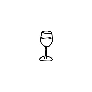グラスに入っているワインのアイコンのアイキャッチ用画像