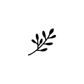 黒く塗った植物、葉っぱのアイコンのアイキャッチ用画像