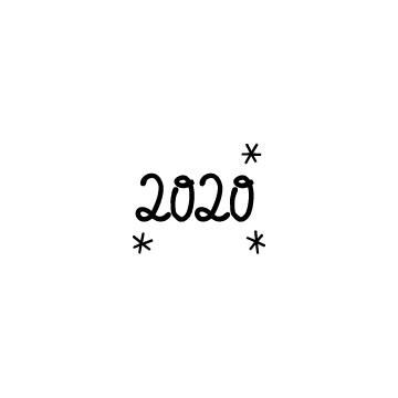 周囲にキラキラがある数字の2020の無料アイコンのアイキャッチ用画像