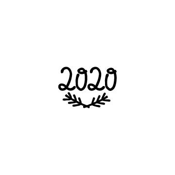葉っぱと数字の2020の無料アイコンのアイキャッチ用画像