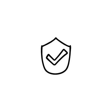チェックマークと盾のアイキャッチ用画像