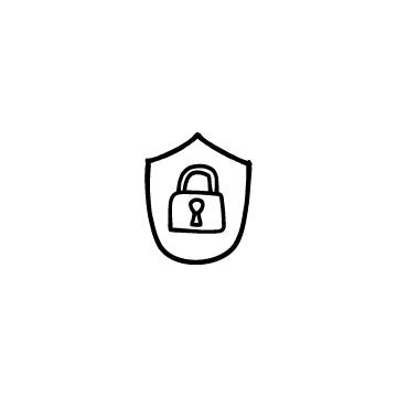 南京錠と盾のアイキャッチ用画像