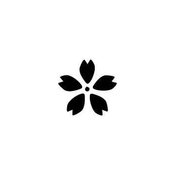 黒く塗った桜の花のアイキャッチ用画像