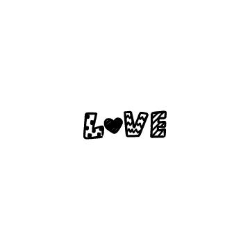 手書き風のラブの文字のアイキャッチ用画像