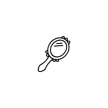 手鏡のフリーアイコンのアイキャッチ用画像