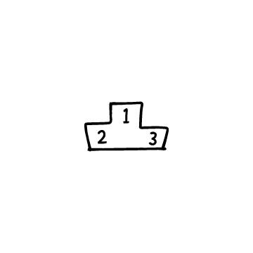 表彰台のフリーアイコンのアイキャッチ用画像