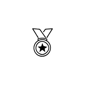 メダルのフリーアイコンのアイキャッチ用画像